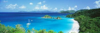 Ocean, Beach, Water, Trunk Bay, St. John, Virgin Islands, West Indies