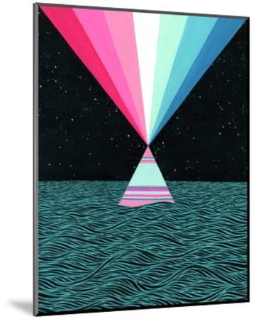 Ocean Blast-Mark Warren Jacques-Mounted Print
