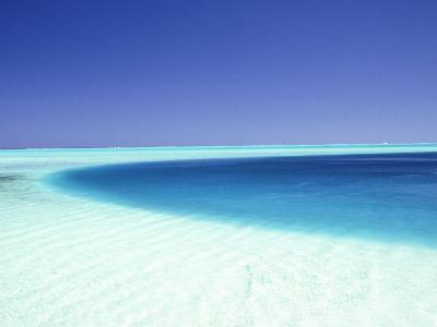 Ocean, Bora Bora, French Polynesia-Douglas Peebles-Photographic Print