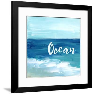 Ocean By the Sea-Pamela J. Wingard-Framed Art Print