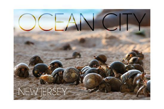 Ocean City, New Jersey - Group of Hermit Crabs-Lantern Press-Art Print