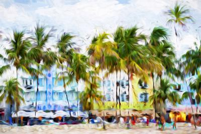 Ocean Drive Beach II - In the Style of Oil Painting-Philippe Hugonnard-Giclee Print