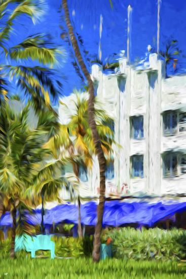 Ocean Drive Building I - In the Style of Oil Painting-Philippe Hugonnard-Giclee Print