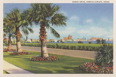Ocean Drive, Corpus Christi--Art Print