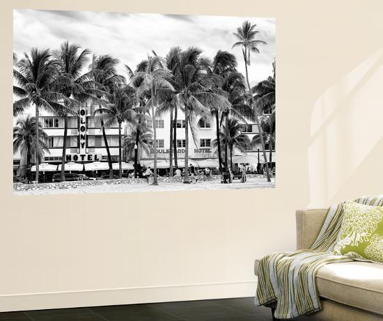 Ocean Drive - Miami Beach - Florida - USA-Philippe Hugonnard-Wall Mural