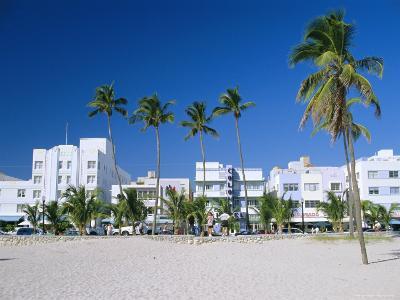Ocean Drive, South Beach, Miami Beach, Florida, USA-Fraser Hall-Photographic Print