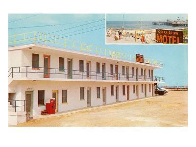 Ocean Glow Motel--Art Print