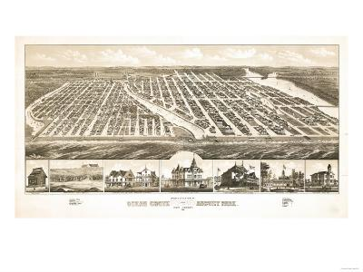 Ocean Grove, New Jersey - Panoramic Map-Lantern Press-Art Print