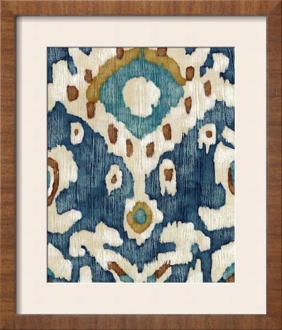 Ocean Ikat II-Chariklia Zarris-Framed Art Print