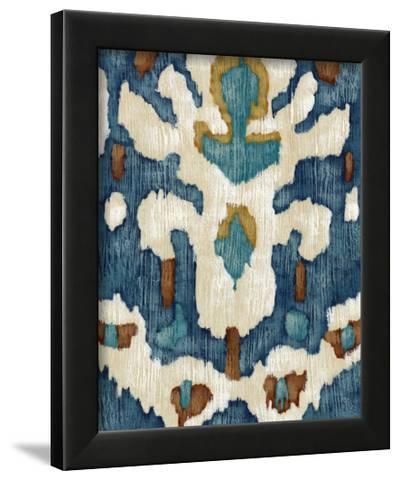 Ocean Ikat IV-Chariklia Zarris-Framed Art Print