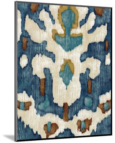 Ocean Ikat IV-Chariklia Zarris-Mounted Print