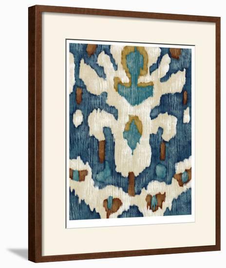 Ocean Ikat IV-Chariklia Zarris-Limited Edition Framed Print