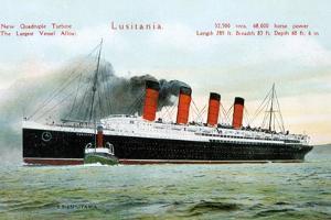 Ocean Liner RMS Lusitania, 20th Century