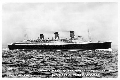 Ocean Liner RMS Queen Mary, 20th Century--Giclee Print