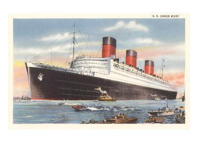 Ocean Liner SS Queen Mary--Art Print