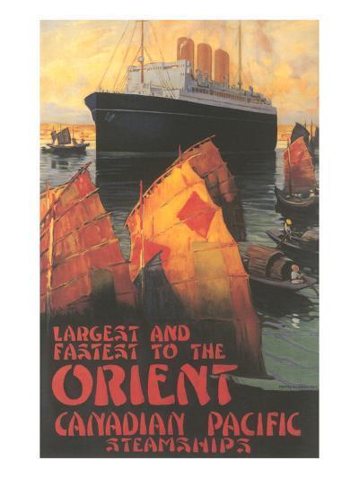 Ocean Liner to Far East--Art Print