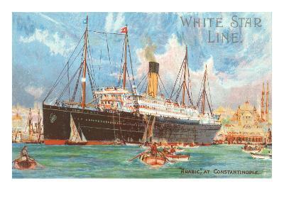 Ocean Liner White Star Line Arabic--Art Print