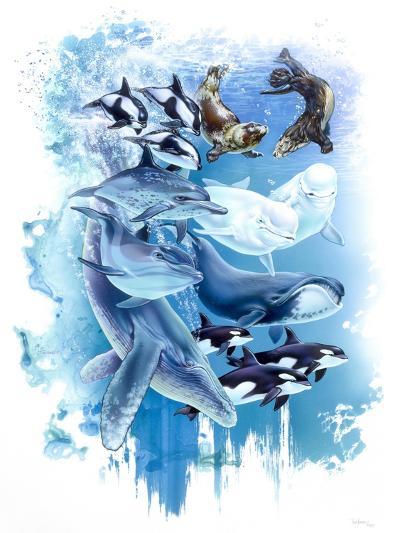 Ocean Mammals-Tim Knepp-Giclee Print