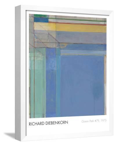 Ocean Park #79, 1975-Richard Diebenkorn-Framed Canvas Print
