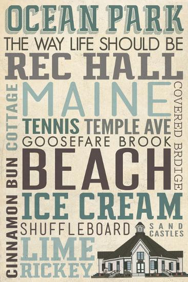 Ocean Park, Maine-Lantern Press-Wall Mural