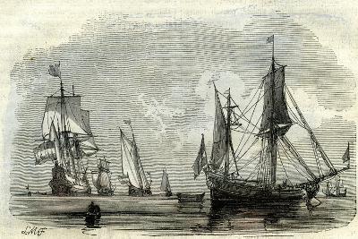 Ocean Ships Uk 17th Century--Giclee Print