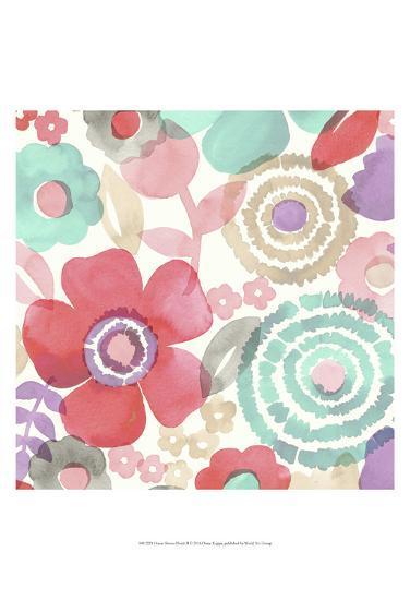 Ocean Shores Floral II-Diane Kappa-Art Print
