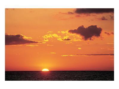 Ocean Sunset--Art Print