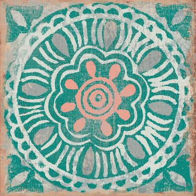Ocean Tale Tile VI Coral--Art Print