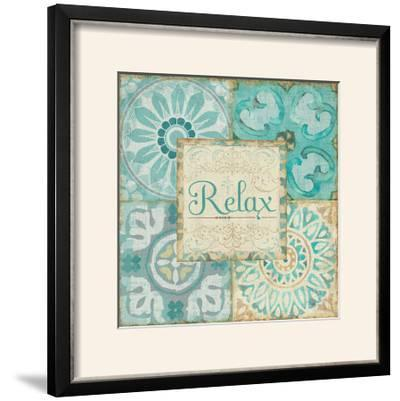 Ocean Tales Tile VI-Pela Design-Framed Photographic Print