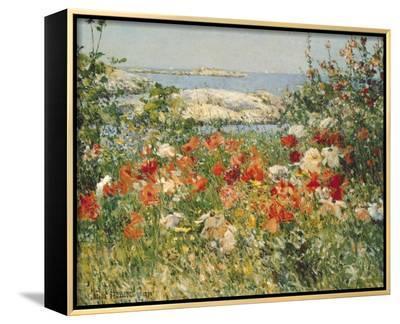 Ocean View-Childe Hassam-Framed Canvas Print