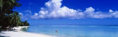 Ocean, Water, Clouds, Relaxing, Matira Beach, Tahiti, French Polynesia, South Pacific, Island--Photographic Print