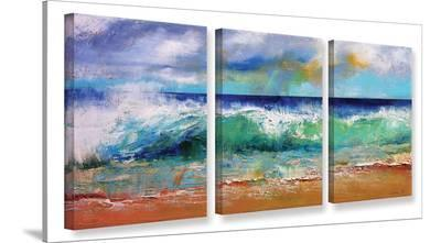Ocean Waves  3 Piece Gallery Wrapped Canvas Set--Gallery Wrapped Canvas Set