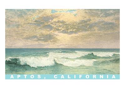 Ocean Waves, Aptos, California--Art Print