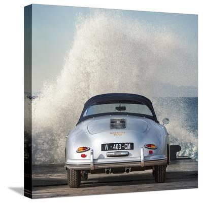 Ocean Waves Breaking on Vintage Beauties (detail 2)-Gasoline Images-Stretched Canvas Print