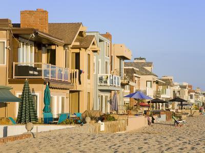 Oceanfront Homes in Newport Beach, Orange County, California, United States of America, North Ameri-Richard Cummins-Photographic Print