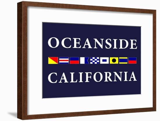 Oceanside, California - Nautical Flags-Lantern Press-Framed Art Print