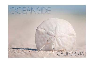 Oceanside, California - Sand Dollar on Beach-Lantern Press-Art Print