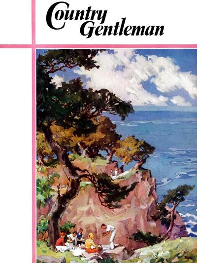"""""""Oceanside Picnic,"""" Country Gentleman Cover, February 1, 1939-G. Kay-Giclee Print"""