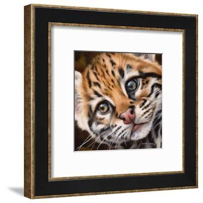 Ocelot Kitten-Sarah Stribbling-Framed Art Print