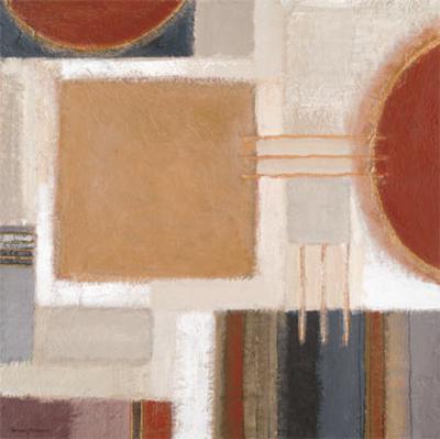 Ochre Block-Rosemary Abrahams-Art Print