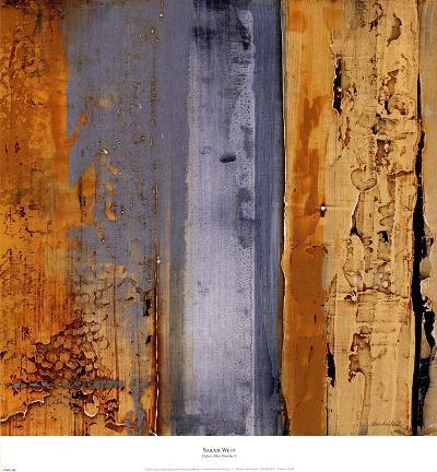 Ochre, Blue Overlay II-Sarah West-Art Print