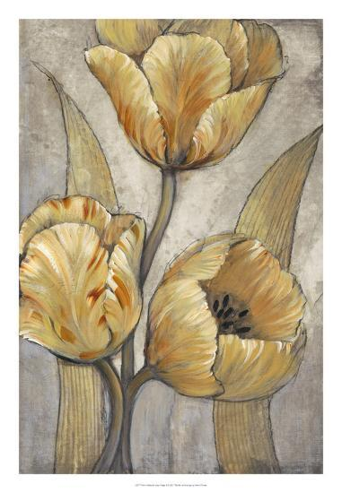 Ochre & Grey Tulips I-Tim O'toole-Art Print