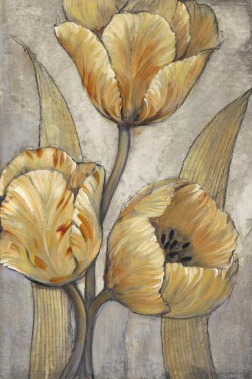 Ochre & Grey Tulips I-Tim O'toole-Premium Giclee Print