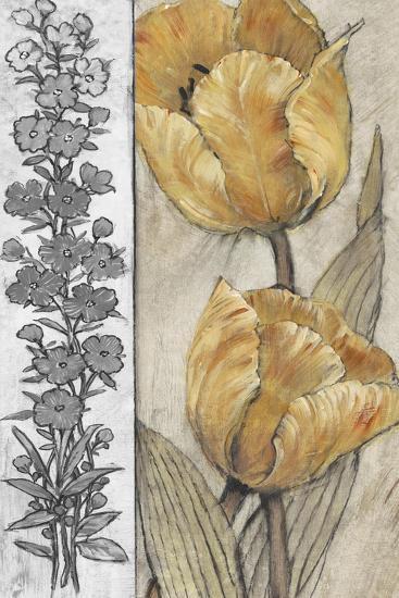 Ochre & Grey Tulips IV-Tim O'toole-Premium Giclee Print