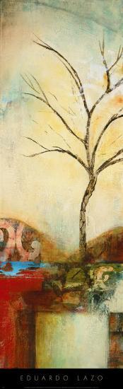 Ochre Landscape I-Eduardo Lazo-Art Print
