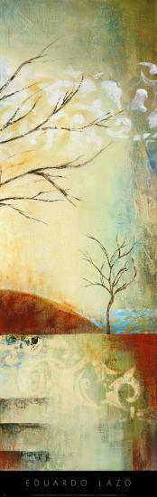 Ochre Landscape II-Eduardo Lazo-Art Print