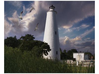 Ocracoke Light I-Steve Hunziker-Art Print