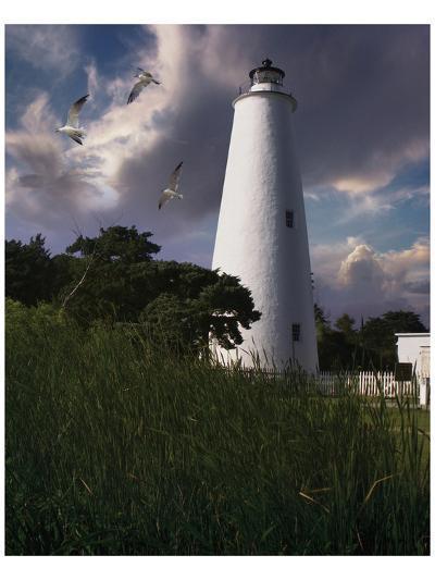 Ocracoke Light II-Steve Hunziker-Art Print