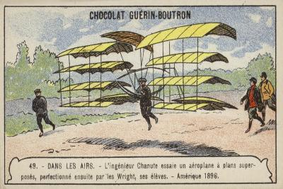 Octave Chanute Testing a Glider of a Design Afterwards Perfected by His Students--Giclee Print