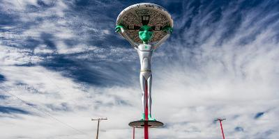 """October 12, 2016 - """"Alien Fresh Jerkey"""" Baker, CA - a depiction of a Alient and Extraterrestrial...--Photographic Print"""